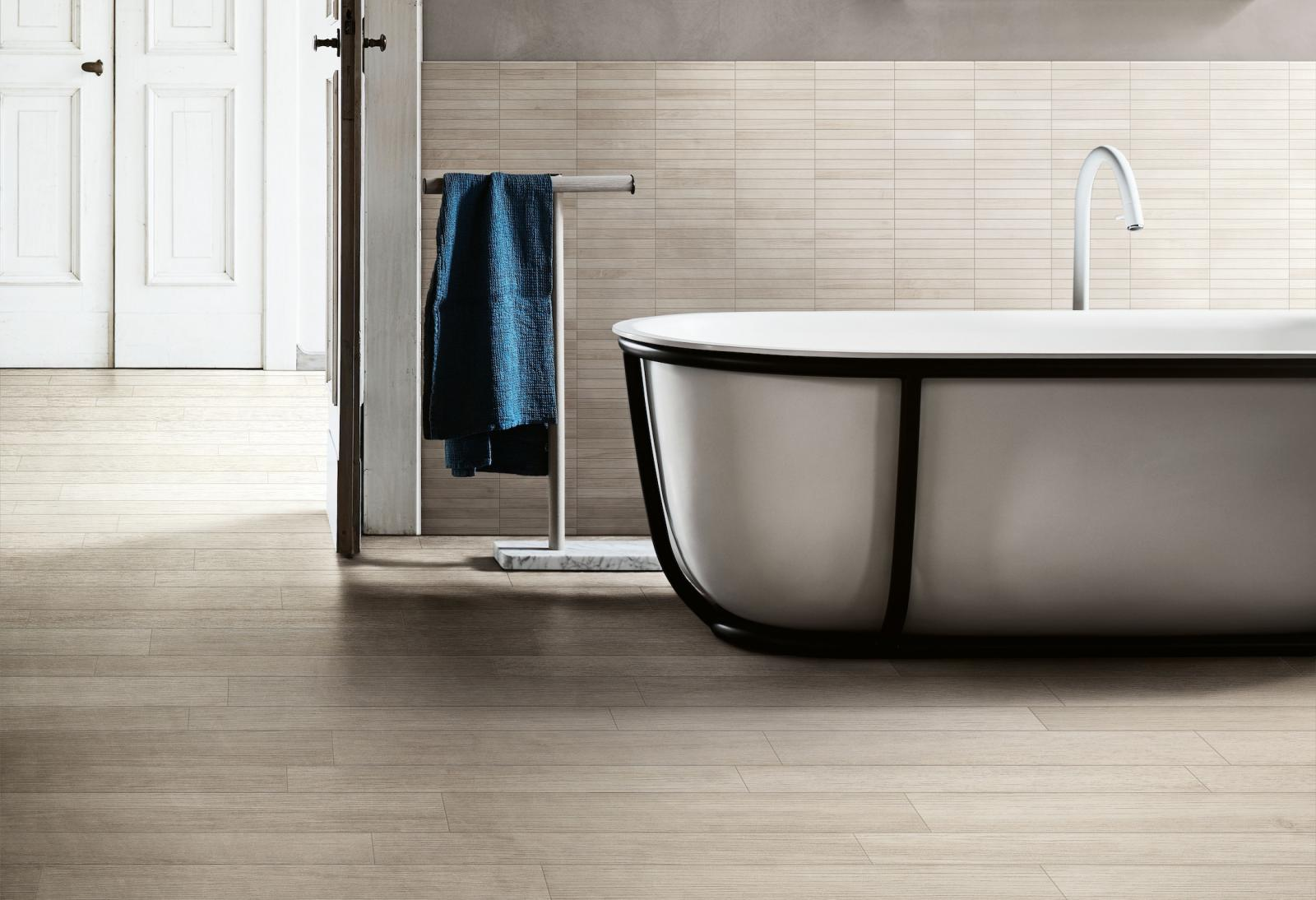 Tendenze bagno cucina: il legno facile senza tempo ceramiche